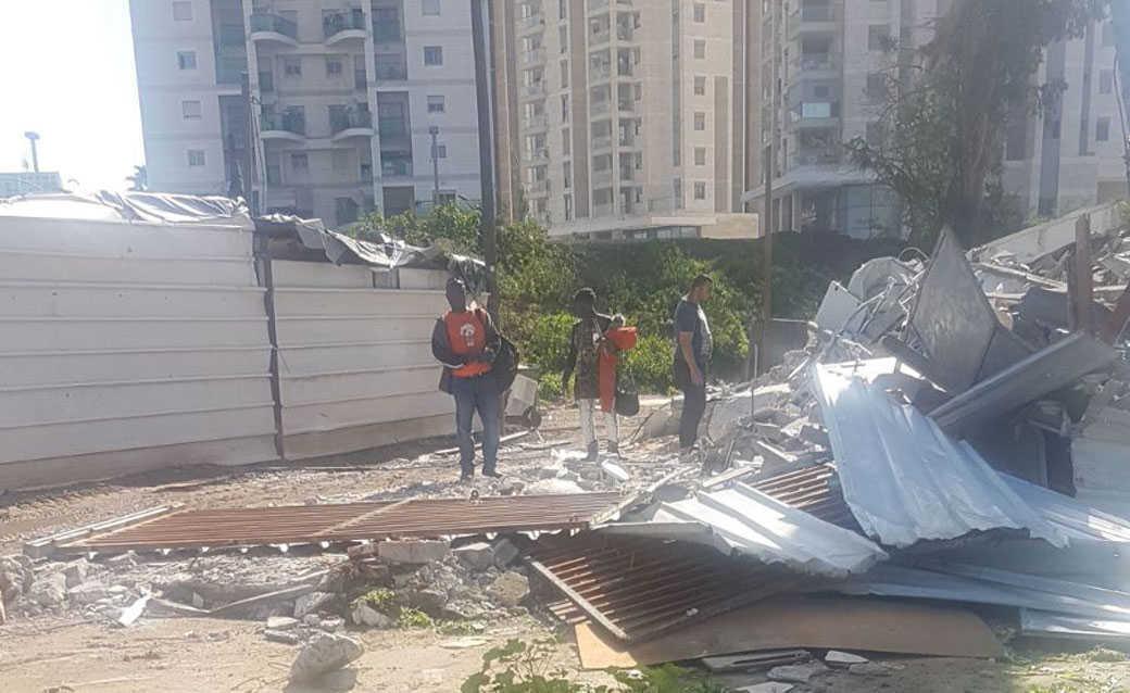 מתחם המגורים אחרי ההריסה