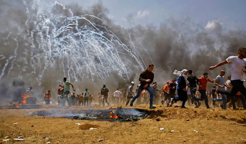 המהומות בגבול רצועת עזה, אתמול