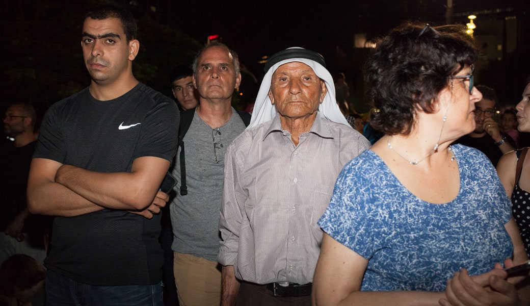 אי אפשר למחוק זהות: הפגנה בכיכר רבין