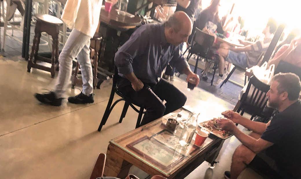 ריקלין ודוד שרן בפגישה מעניינת בצפון תל אביב | הצילום באדיבות חיים לווינסון