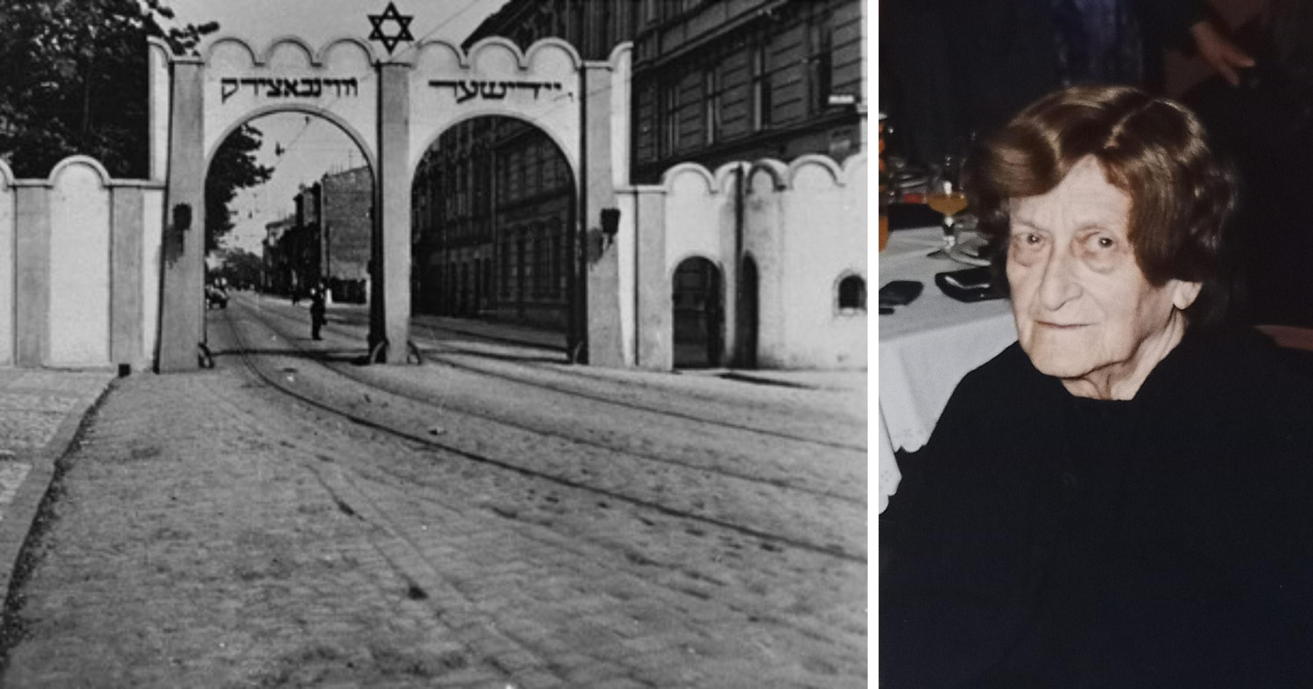 דורה ושער הכניסה לגטו היהודי בקרקוב ב-1941