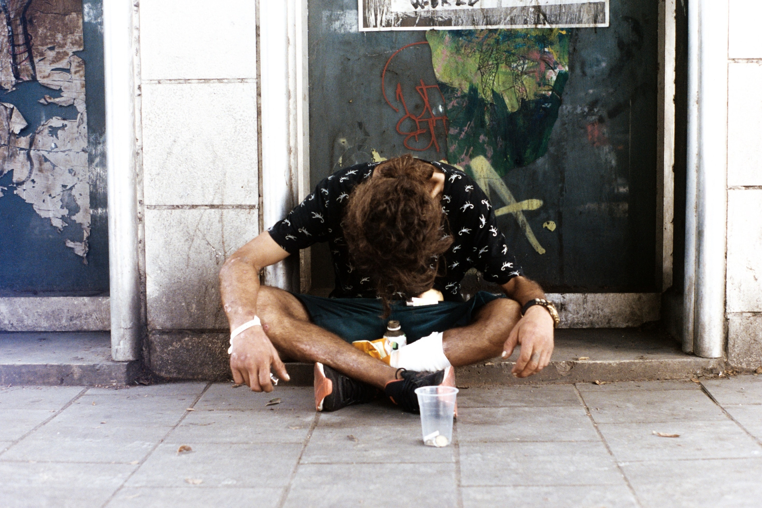 חסר בית בתל אביב   צילום: איתי רון. למצולם אין קשר לכתבה